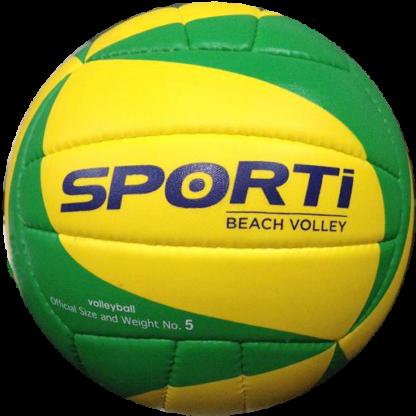 ballon beach volley vert jaune sporti