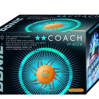 Balle de Tennis de table Donic Coach. 2 étoiles 40+
