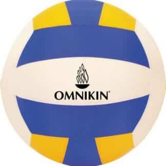 Ballon de volley marque OMNIKIN symbole bleu blanc jaune