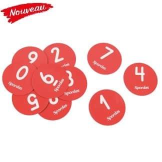 Cibles numérotées pour table de tennis de table